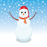 Snowman is representing merry christmas Royalty Free Stock Photos