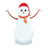 Snowman is representing merry christmas Stock Image
