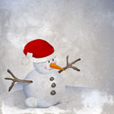 Snowman retro Royalty Free Stock Image