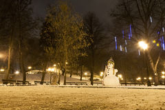 Snowman in Riga Royalty Free Stock Image