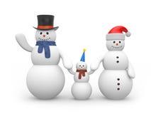 Snowman's happy family royalty free illustration