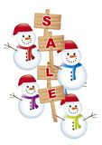 Snowman sale Royalty Free Stock Photography