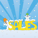 Snowman sales Royalty Free Stock Images