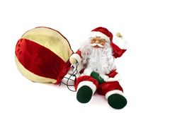 Snowman Santa Claus with balloon 1 Royalty Free Stock Image
