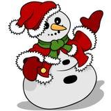 Snowman Santa Claus Stock Image