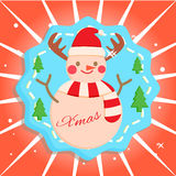 Snowman. Santa cute snowman  christmas xmas Royalty Free Stock Images