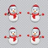Snowman in Santa hat Royalty Free Stock Image