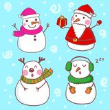 Snowman stock illustration