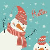 Snowman says hello Stock Image