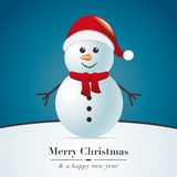 Snowman with scarf Stock Photography