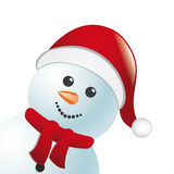 Snowman with scarf and hat Royalty Free Stock Photo