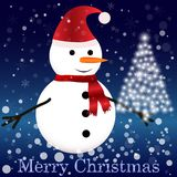 Snowman with scarf Royalty Free Stock Photo