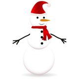 Snowman with scarf Stock Images