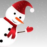Snowman with scarf Royalty Free Stock Images