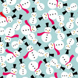 Snowman Scarf Seamless Background Pattern Stock Images
