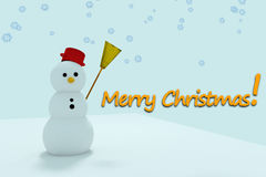 Snowman scene Royalty Free Stock Photography