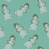 Snowman seamless Royalty Free Stock Image