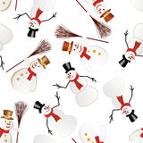 Snowman seamless pattern Royalty Free Stock Photos