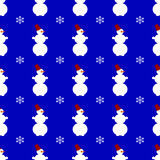 Snowman seamless pattern background Royalty Free Stock Image