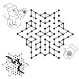 Snowman search the way. Kid maze game to be colored. Stock Images