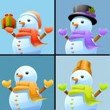 Snowman set Royalty Free Stock Photography