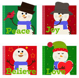 Snowman Set Royalty Free Stock Image