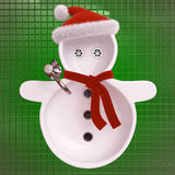 Snowman sinks Stock Photography