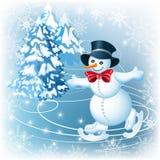 Snowman skates Royalty Free Stock Photos