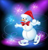 Snowman skates Royalty Free Stock Photo