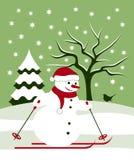 Snowman skier Stock Photos