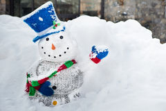 Snowman with a smile Royalty Free Stock Images