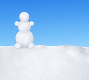 Snowman on snow Stock Photos