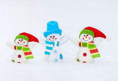 Snowman on snow Stock Photography