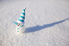 Snowman on snow. Christmas decoration. Stock Images