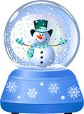 Snowman in Snow Globe vector illustration