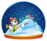 Snowman snow globe Stock Photos