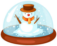 Snowman in snow globe Royalty Free Stock Image