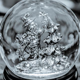 Snowman snow globe Royalty Free Stock Image