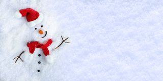 Snowman on snow Stock Images