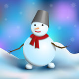 Snowman and snow Stock Image