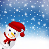Snowman in snow Royalty Free Stock Photography