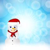 Snowman in snow Royalty Free Stock Photos