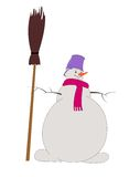 Snowman, snowball Royalty Free Stock Photography