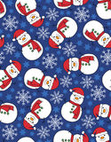 snowman snowflake seamless pattern Royalty Free Stock Images