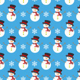 Snowman and snowflakes Royalty Free Stock Photography