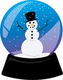 Snowman Snowglobe Stock Images