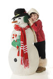 Snowman Snuggle Royalty Free Stock Image