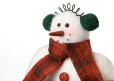 Snowman soft toy Royalty Free Stock Photos