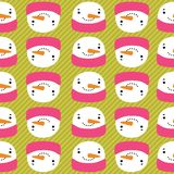 Snowman with speech bubble seamless pattern Royalty Free Stock Photo