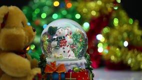 Snowman Sphere stock video footage